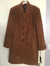 $500 DKNY Women Single-Breasted Walker Coat Alpaca/Wool NWT Size 14 Vicuna Color