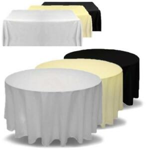 RECTANGLE SQUARE CIRCLE POLYESTER WEDDING TABLECLOTH TABLE CLOTH COVER BUFFET UK
