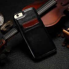Luxury Leather Wallet Credit Card Slots Case Cover For iPhone 6S 7 8 Plus X 10