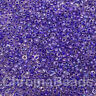 50g glass seed beads - Purple-Lined Rainbow - approx 2mm, size 11/0, craft