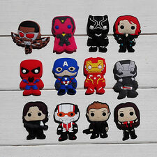 Hot 36pcs Avengers charms shoe accessorie​s fit bracelet&wristband kids gifts