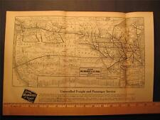 10 X 15 1924 CHICAGO MILWULKEE & ST PAUL RAILROAD SYSTEM MAP W/ DEPOT LOCATIONS+
