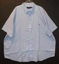 Polo Ralph Lauren Big and Tall Mens Blue S/S Button-Front Dress Shirt NWT 3XB