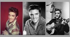Elvis Presley 3 Photo Lot Sexy Photos Playing Guitar Singing Portraits Pics