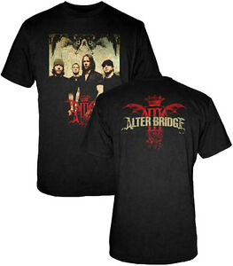 Official Alter Bridge Band Photo Adult T-Shirt - American Rock Band Tee