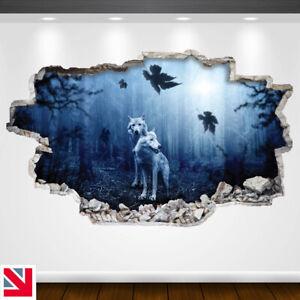 FOREST WOLVES Wall Sticker Decal Vinyl Art A5