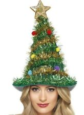 Adult Christmas Tree With Star Tinsel Hat Xmas Party Novelty Fun Fancy Dress