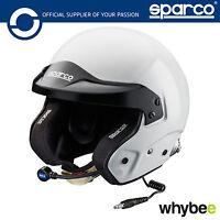 New! 003352 Sparco PRO RJ-3i Open Face Race Rally Helmet Intercom SNELL FIA HANS