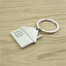 House Home Keyring Alloy Pendant Keyfob Chrome Keychain Wedding Handbag Gift New