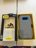 OtterBox Defender Series Case for Samsung Galaxy S8+ - Gray/Blue Trim