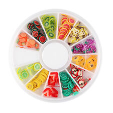 Nail Art Stickers Fruit Slices 3D Fimo UV Gel Tips Sticker DIY Design Rhinestone