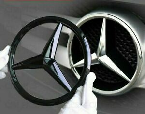 Mercedes Gloss Black Front Grille Star Badge Cover A C GLA CLA ML CLS E Class