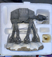 Star Wars Hawthorne Village AT-AT Lights Up Sculpture in Box