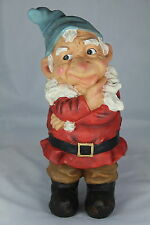 """GARDEN GNOME - 12"""" THINKING GNOME -TRADITIONAL GARDENER'S GIFT - WHO, WHAT, WHY?"""