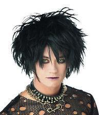 Mens Midnight Fiend Punk Gothic Vampire Black Wig Costume Accessory Cc70328