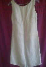 Walter textured linen blend beige with silver sparkles sheath dress size 6