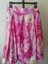 95c01e326c NWOT LUCKY & COCO Pink Fuchsia Cream A-Line Dressy Pleated Skirt Sz Large 12