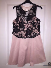 Lipsy Pink Black Sparkly Prom Wedding Party Dress size 8 NEW RRP £68