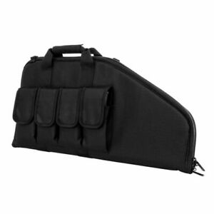 "NcStar Vism CVCP2961B BLACK 28"" Padded Lockable Subgun Rifle Gun Case Mag Pouch"