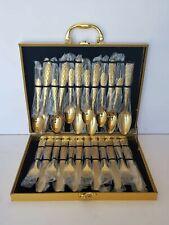 24pcs Matte Flatware Set Spoon Knife Fork Dinnerware Gold
