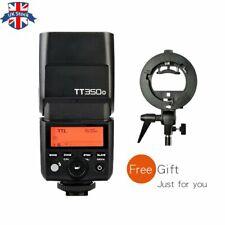 UK Godox 2.4G GN36 TT350O TTL flash Speedlite For Olympus+Bowes S type bracket