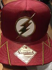 D.C. Comics THE FLASH Rubber Emblem SnapBack Hat. NWT. One Size Fits All