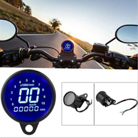 LCD Digital Odometer Speedometer Tachometer for 12V Motorcycle ATV Scooter
