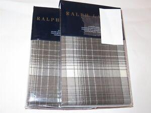 2 Ralph Lauren Hoxton Jackson Plaid Standard Shams