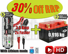 LITHIUM Deal - Battery + 3.5A charger- YTZ14S-FP +40% CCA, 70% less weight
