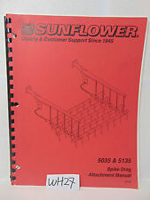 SUNFLOWER BOOK OPERATOR-PART MANUAL SPIKE DRAG ATTACHMENT 5035 & 5135 FARM