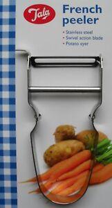 French Speed Peeler Peel Vegetables Fruit Potato Slicer Swivel Action Blade Tala