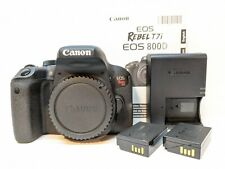 Canon EOS Rebel T7i DSLR Camera Body + 2 Canon Batteries + Charger