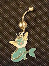 Pokemon Pikachu's Vaporeon friend Belly Ring Navel Ring 14G Surgical Steel