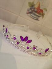 Purple  tiara /Wedding tiara /Tiara/Prom tiara. Red Blue Or Purple Available !