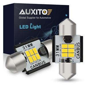 AUXITO 31MM LED Interior Dome Trunk Light Bulb DE3175 DE3021 CANBUS Error Free