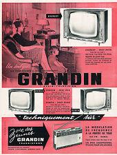 PUBLICITE ADVERTISING 014   1964    GRANDIN  téléviseur 2