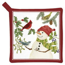 2 Alices Cottage Snowman And Friends POTHOLDERS USA  SALE!