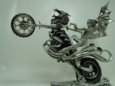 Motorcycle Chopper Custom Harley Davidson Touring Fantasy Sculpture Statue Art