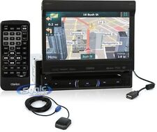 """Clarion NZ503 Single DIN Bluetooth DVD GPS Car Stereo w/ 7"""" Flip-Out Display"""
