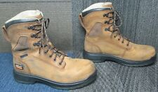 """Mens ARIAT Turbo 8"""" Waterproof Carbon Toe Leather Work Boots sz 7.5 EE"""