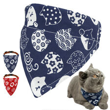 Bandana-Style Dog Cat Collar Adjustable Neckerchief Neck Scarf for Pet Kitten