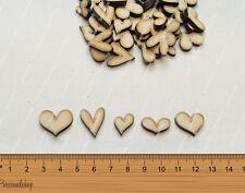 Wooden MDF Shapes Hearts Craft Scrapbook Kids Gift Card Making Scrapbooking