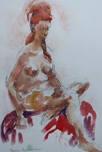 Fiona Goldbacher - Important British artist - Seated nude