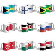 Country Flag Mug Coffee Mug Tea Cup Ceramic World Flags 300ml 10oz Gift Novelty