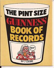 Pint Size Guinness Book of Records No.7 Crime - 1983 - free pp(UK)