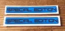 2 X Edición Especial (Negro sobre Azul) STICKER/DECAL-acabado de alto brillo abovedado Gel
