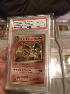 Pokemon PSA 10 GEM MINT CHARIZARD Japanese CP6 20th Anniversary 1st Edition Card