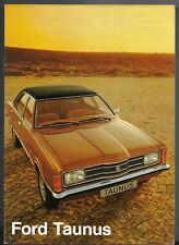 Ford Taunus 1974-75 French Market Sales Brochure L XL GXL Coupe Break Cortina