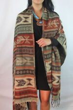 #5000 Fine Soft Wool Throw Shawl Earth Tones Assorted Mix Artisan Made Classic