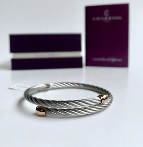 Charriol * Bangle Celtic Sceau Silver & Rose Gold PVD Stainless 04-102-00144-1S